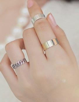 232787 - <SL128-JG14> [Silver] modern empty ring