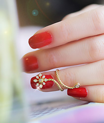 232801 - <RI144-JB23> snow flower nail point ring