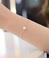 232937 - <SL412A-HD17> [Silver] white snow pearl bracelet