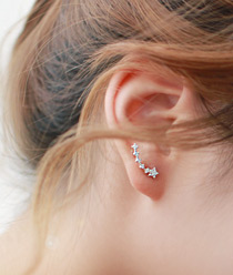 232947 - <ER225-S> [SOLD OUT imminent] [Silver Post] star swing earrings