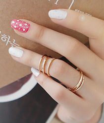 233026 - <RI039-JE22> [2Piece 1set] triple & multi ring