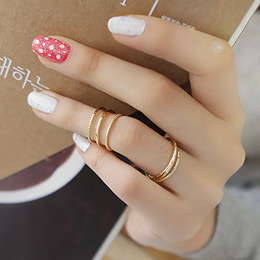 233026 - <RI039-S> [Immediate out of stock] [2Piece 1set] triple & multi ring