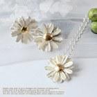 13493 - <SL186-BD07> [Silver] Chrysanthemum flower scent set