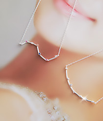 233045 - <SL092-S> [Immediate out of stock] [Silver] constellation necklace