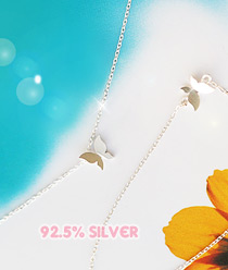 233077 - <L093-S> [Immediate out of stock] [Silver] sweet holic necklace