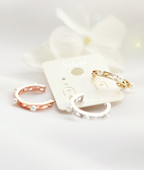 233098 - <ER048-CH19> [From you] [Silver Post] song i pearl ring earrings