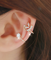233136 - <EC040-CB16> sweet bird ear cuff