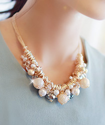 233140 - <JS025-IH04> glam point necklace