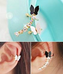 233310 - <EC010-CC09> butterfly waltz ear cuff