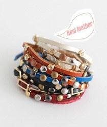 233345 - <BC165-HA07> Liberal long leather bracelet