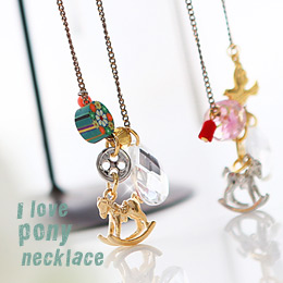 233378 - <NE079-BB09> Alup pony necklace