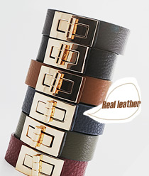 233383 - <BC166-HE18> M clutch leather bracelet