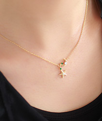 233413 - <JS014-IE12> spring on the moon necklace