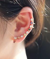 233515 - <EC051-S> great cubic line ear cuff