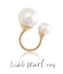 233527 - <RI129-JH19> double pearl ring