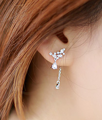 236567 - <ER500-DK27> [Silver Post] Dream of queen earrings