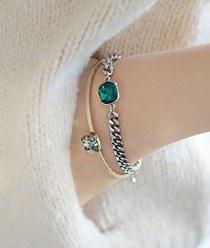 236590 - <BC207-HF17> vintage cubic bangle bracelet
