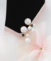 236596 - <ER503-DL07> [Silver Post] infinity pearl earrings