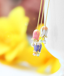 236602 - <ER505-DK01> Humming tulip earrings
