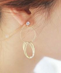236660 - <ER506-DC09> [Silver Post] Tangle earrings