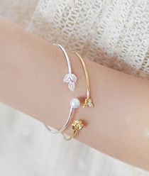 236719 - <BC216-HG14> Evergreen bangle bracelet