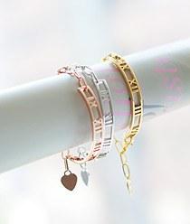 236937 - <BC231-HH17> Roman number bracelet