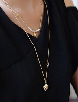 236939 - <NE137-IF06> rose heel necklace
