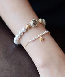 236940 - <BC232-IF06> [2Piece 1set] rose heel bracelet