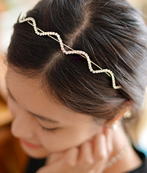 236965 - <HA260-S> [Out of stock imminent] wave jullan hairband