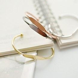 237098 - <BC244-HG13> basic metal bangle bracelet