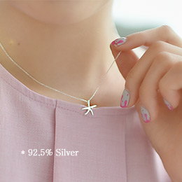 237117 - <SL448-S> [Immediate out of stock] [Silver] Starfish necklace