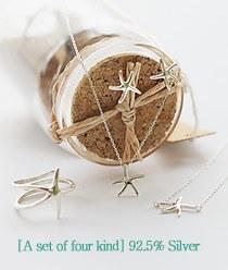 237120 - <SL450-BD07> [4bell set] [Silver] Starfish set