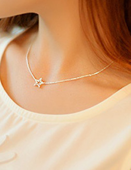 237147 - <NE142-S> Starry night necklace
