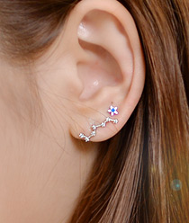 237156 - <ER539-IG07> [Silver Post] Mini Milky Way Earrings