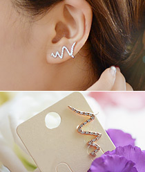 237205 - <EC096-CA18> [Single] [Silver Post] slim snake Ear Curve