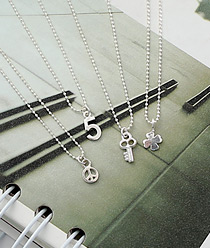 237218 - <SL451-S> [Immediate out of stock] [Silver] Mini ball chain series necklace