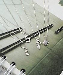 237218 - <SL451-BD06> [Silver] Mini ball chain series necklace