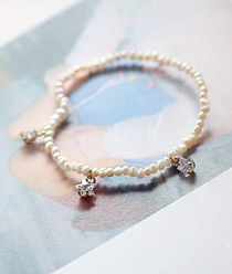 237228 - <BC261-IF09> triple Mini star bracelet