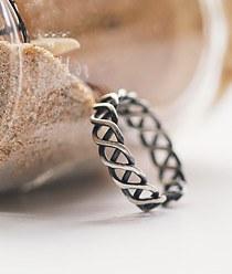 237238 - <RI307-AB14> [Silver] vintage talk ring