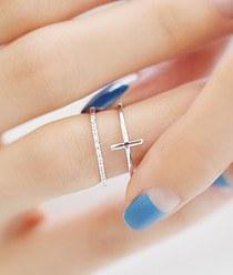 237239 - <RI308-AA10> 2line cross ring