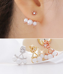 237241 - <ER545-S> [Sold Out Immediately] [Silver Post] Bobby pearl two-way earrings