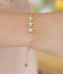 237280 - <BC263-IF10> fine Flower bracelet