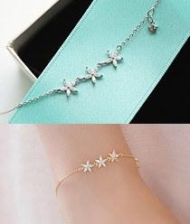 237282 - <JS130-IF10> [bracelet + necklace] fine Flower set