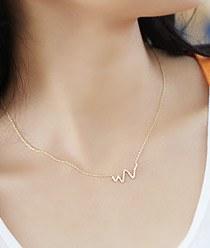 237290 - <NE152-BE07> slim snake necklace