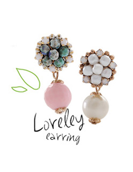 237375 - <ER554-DD10> [handmade] [Silver Post] Lorelei earrings