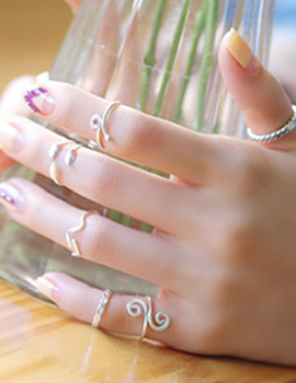 237585 - <RI323-S> [SOLD OUT imminent] [Silver] Step up ring