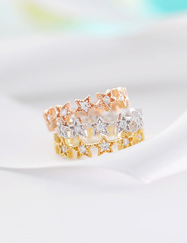 237586 - <RI322-S> [Immediate out of stock] [Silver] Morning star ring