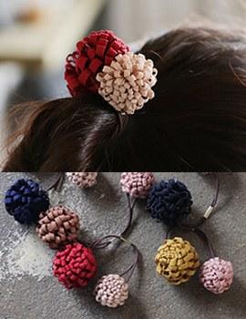 237609 - <HA301-H7> Mini double Flower ponytail