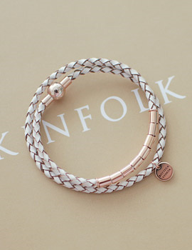 237657 - <BC276-HB23> muted leather bracelet