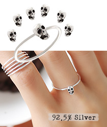 237722 - <RI330-JG17> [Silver] Mini skull ring